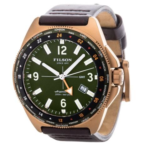Filson Journeyman GMT Watch - Leather Band (For Men)