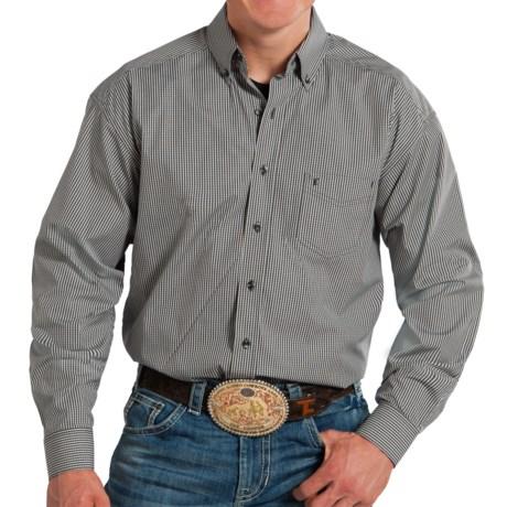 Panhandle Tuf Cooper Poplin Plaid Western Shirt - Long Sleeve (For Men)
