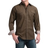 Panhandle Slim Peached Poplin Print Shirt - Snap Front, Long Sleeve (For Men)