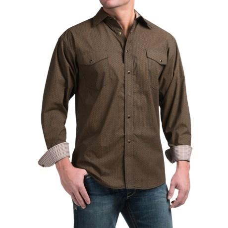 Panhandle Slim Peached Poplin Print Shirt - Snap Front, Long Sleeve (For Men)