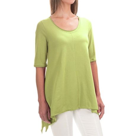 Neon Buddha Lifestyle Tee Tunic Shirt - Scoop Neck, Elbow Sleeve (For Women)