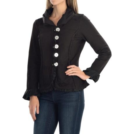 Neon Buddha Carmel Patchwork Ruffled Jacket - Cotton Blend, Button-Up (For Women)
