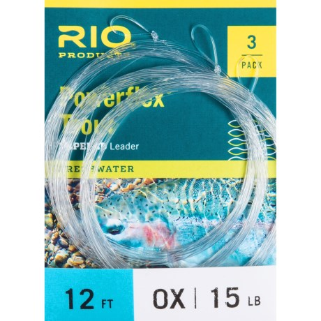 Rio Powerflex Knotless Leader - 12', 3-Pack