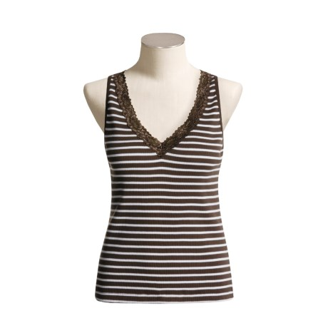 Lace-Trimmed Tank Top (For Women)
