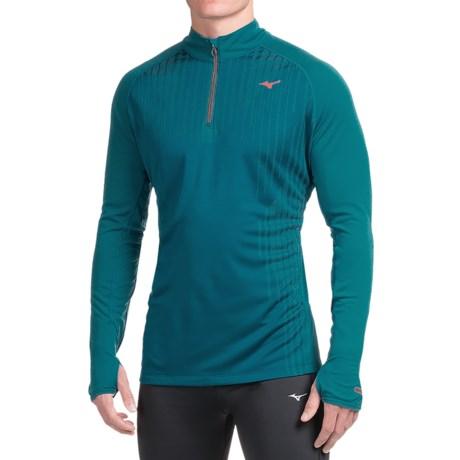 Mizuno Breath Thermal Shirt - Zip Neck, Long Sleeve (For Men)