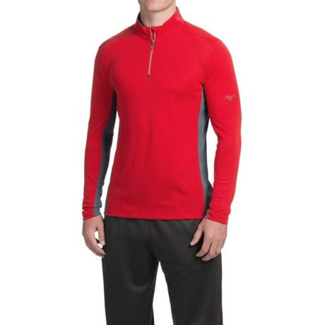 Mizuno Evolution Shirt - Zip Neck, Long Sleeve (For Men)