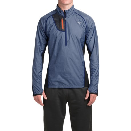 Mizuno Breath Thermo Windtop Shirt - Zip Neck, Long Sleeve (For Men)