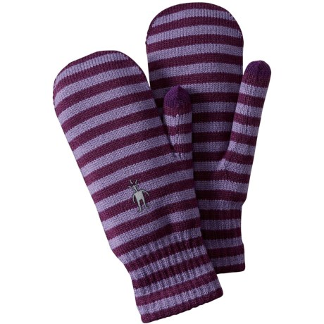 SmartWool Striped Knit Mittens - Touchscreen Compatible (For Men and Women)