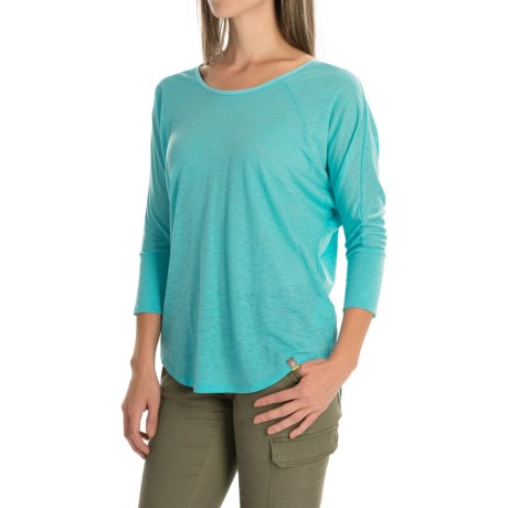 SmartWool Emerald Valley Strappy-Back T-Shirt - Merino Wool, 3/4 Sleeve (For Women)
