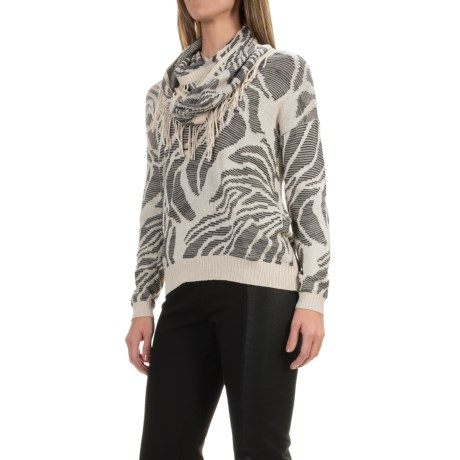 Nic+Zoe Oasis Scarf Sweater - Detachable Scarf, Long Sleeve (For Women)