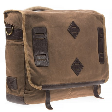 Will Leather Goods Mirror Lake Canvas Messenger Bag
