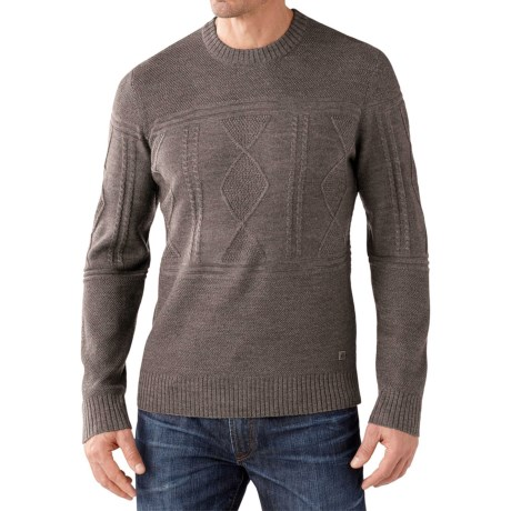 SmartWool Cheyenne Creek Cable-Knit Sweater - Merino Wool (For Men)
