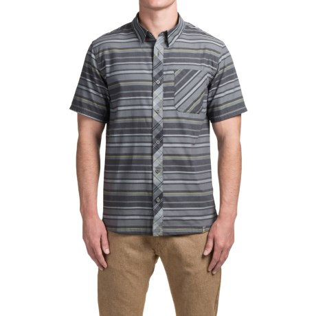 SmartWool Summit County Stripe Shirt - Merino Wool-Organic Cotton, Short Sleeve (For Men)