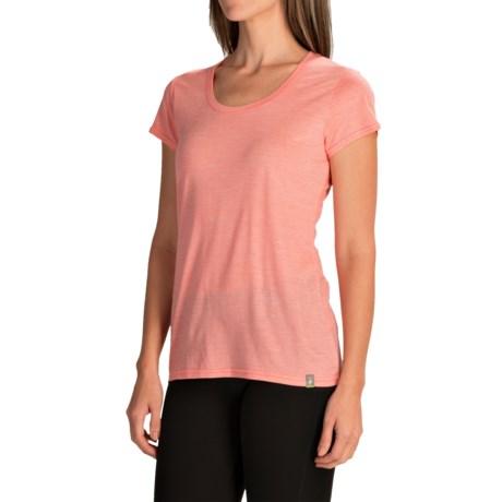 SmartWool Solid Scoop T-Shirt - Merino Wool-TENCEL®, Short Sleeve (For Women)