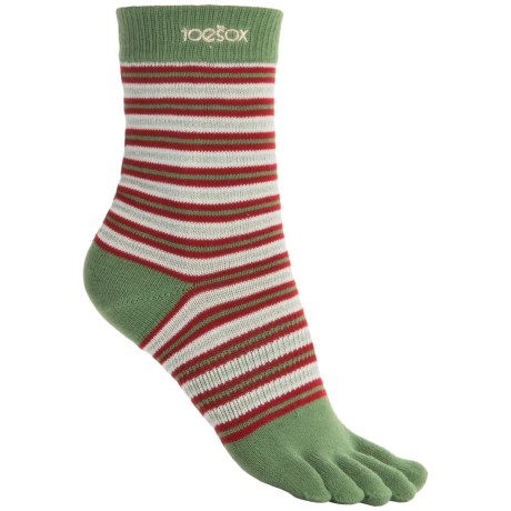 ToeSox Casual Full Toe Socks - Organic Cotton, Crew (For Women)