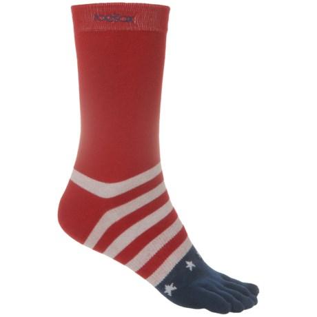 ToeSox Casual Full Toe Socks - Crew (For Women)