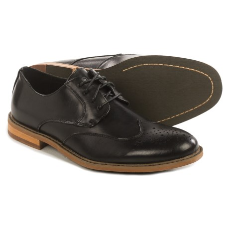 Deer Stags Hampden Wingtip Oxford Shoes - Leather, Memory Foam (For Men)