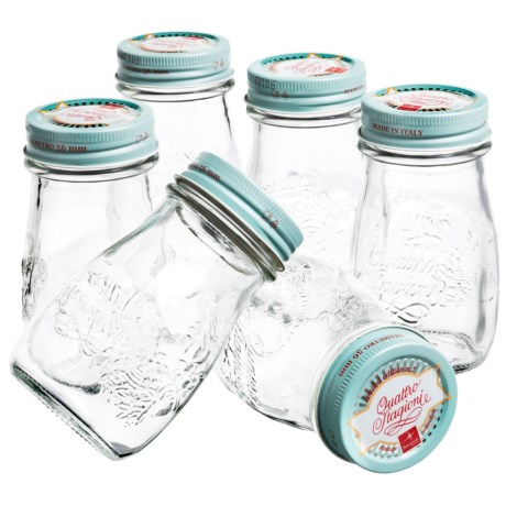 Bormioli Rocco Quattro Stagioni Vintage Canning Jars - 6.75 fl.oz., Set of 6