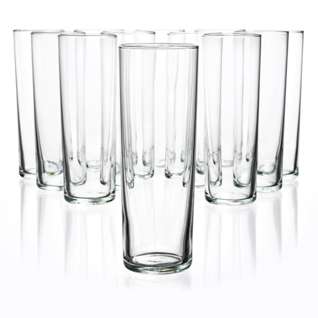 Bormioli Rocco Aere Long Drink Highball Glasses - Set of 12