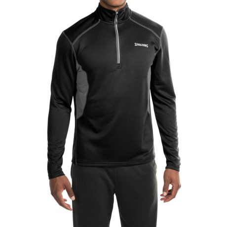Spalding Impact High-Performance Shirt - Zip Neck, Long Sleeve (For Men)