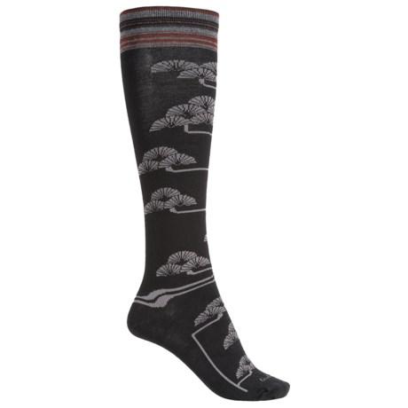 Goodhew Fan Flower Knee-High Socks - Merino Wool, Over the Calf (For Women)