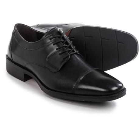 Johnston & Murphy Landrum Cap-Toe Shoes - Leather, Lace-Ups (For Men)
