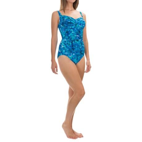 Trimshaper Averi Double Vision One-Piece Swimsuit (For Women)