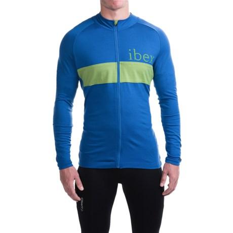 Ibex Spoke Cycling Jersey - Merino Wool, Full Zip, Long Sleeve (For Men)