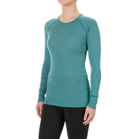Ibex Woolies 1 Stripe Base Layer Top - Merino Wool, Long Sleeve (For Women)