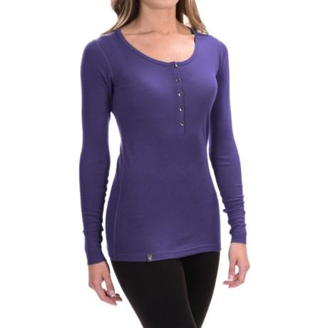 Ibex Woolies 1 Henley Base Layer Top - Merino Wool, Long Sleeve (For Women)