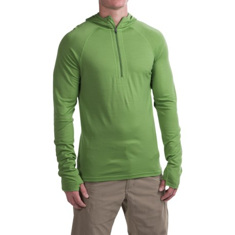 Ibex Indie Hoodie - Merino Wool, Zip Neck (For Men)