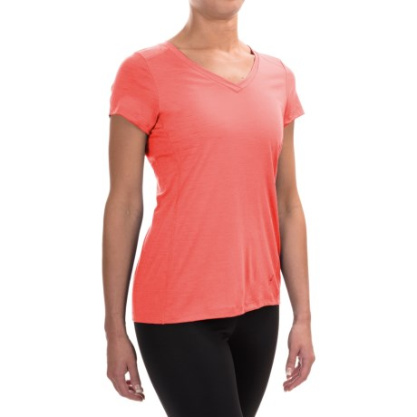Ibex All Day Long V-Neck Shirt - Merino Wool, Short Sleeve (For Women)