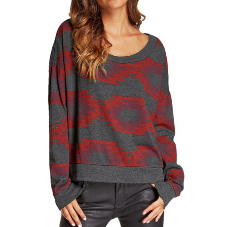 Threads 4 Thought Sequoia Cropped Top - Long Sleeve (For Women)