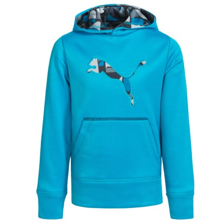 Puma Cat Logo Hoodie (For Little Boys)
