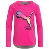 Puma Curved Hem Shirt - Long Sleeve (For Big Girls)
