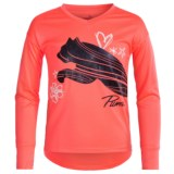 Puma High-Low Shirt - Long Sleeve (For Big Girls)