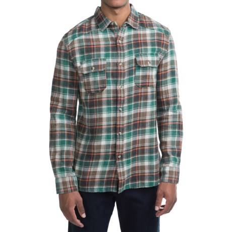 Free Nature Weathered Twill Flannel Shirt - Long Sleeve (For Men)