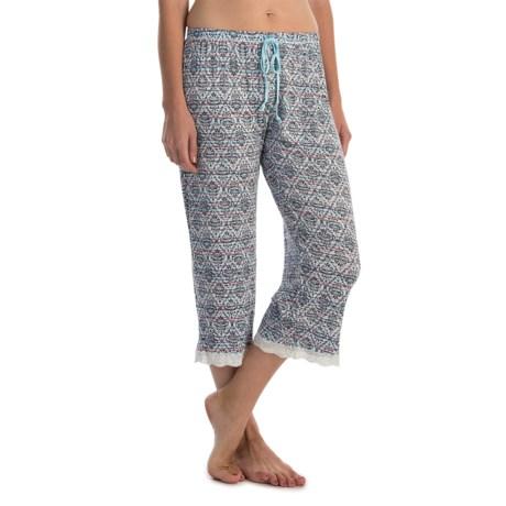 Laura Ashley Rayon Pajama Capris (For Women)