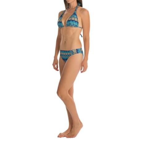La Blanca Halter Bikini Set - Shirred Bottoms (For Women)