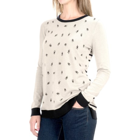 G.H. Bass & Co. Contrast Trees Sweater (For Women)