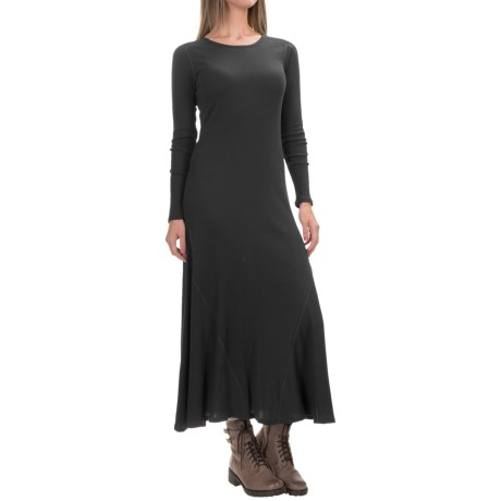 G.H. Bass & Co. Ribbed Maxi Dress - Long Sleeve (For Women)