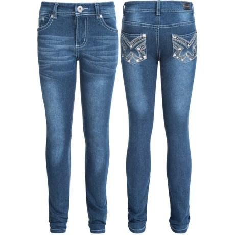 PINK VELVET Pink Velvet Embellished Jeans - Skinny Fit (For Big Girls)
