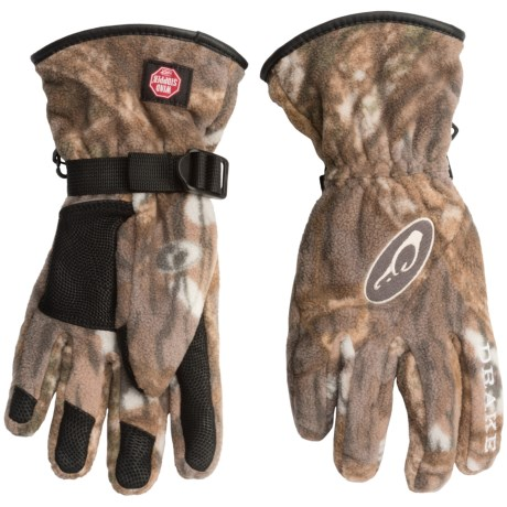 Drake MST Windstopper® Fleece Gloves (For Men)