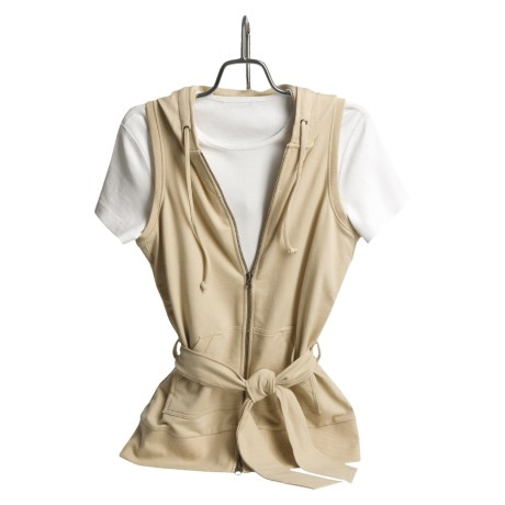 Lilla P French Terry Vest Jacket (For Women)