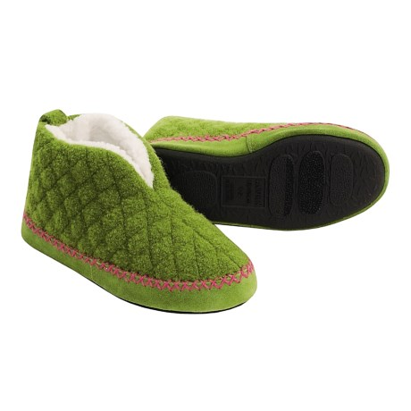 Acorn Cozy-Q Booties - Boiled Wool (For Kids)