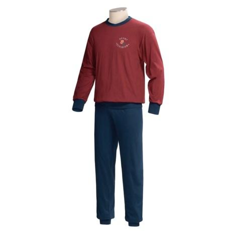 Calida Sport Print Pajamas - Long Sleeve (For Men)