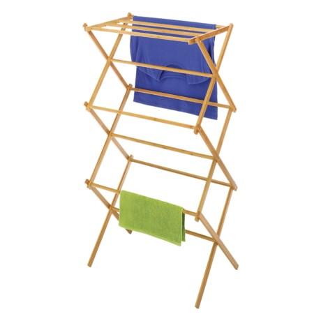 Whitmor Folding Drying Rack - Bamboo