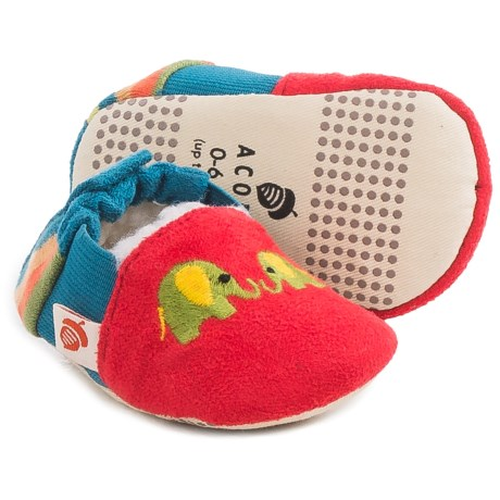 Acorn Easy-On Moc Slippers - Fleece Lined (For Infants and Toddlers)