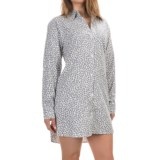 DKNY Boyfriend Flannel Nightshirt - Long Sleeve (For Women)