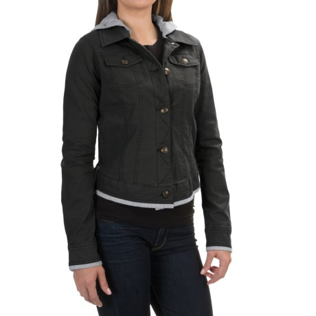 Aventura Clothing Kinsley Hooded Jacket - Organic Cotton, Button Up (For Women)